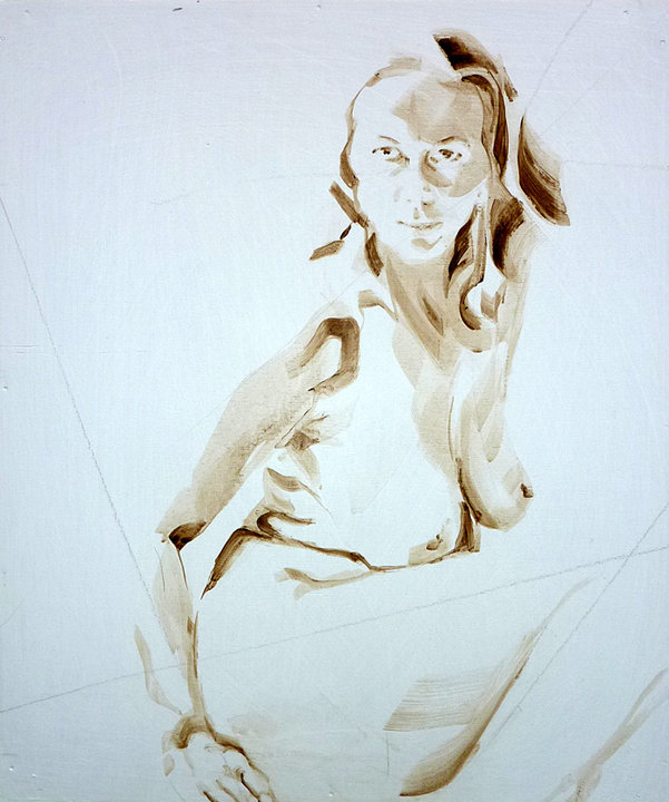 Nude Self 04| Acrylic on wooden panel | 70x50 cm