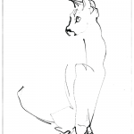 Cat Looking Right   reproduction   print