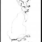 Cat Looking Back   reproduction   print