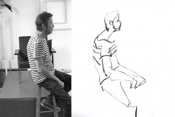 Model tekenen drawing Frank