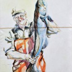 Fisherman 04 | Acrylic on sailcloth | 70x90 cm