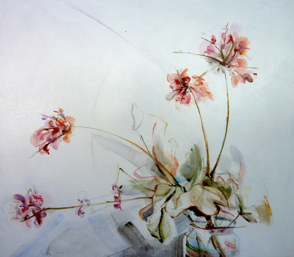 Finca Flowers 01| Acrylic on wooden panel | 70x80 cm | Kunstuitleen Alkmaar