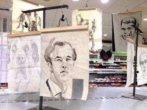 Mark Rutte in Kunst Supermarkt