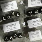 Hand painted pebble stones from Famara beach, Lanzarote