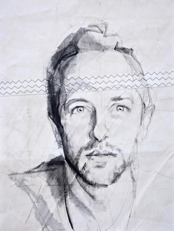 Chris Martin|Acrylic on sailcloth | 50x70 cm
