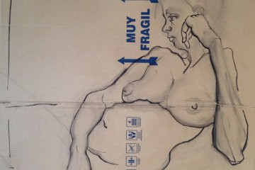 Muy Fragil, Drawing on cardboard
