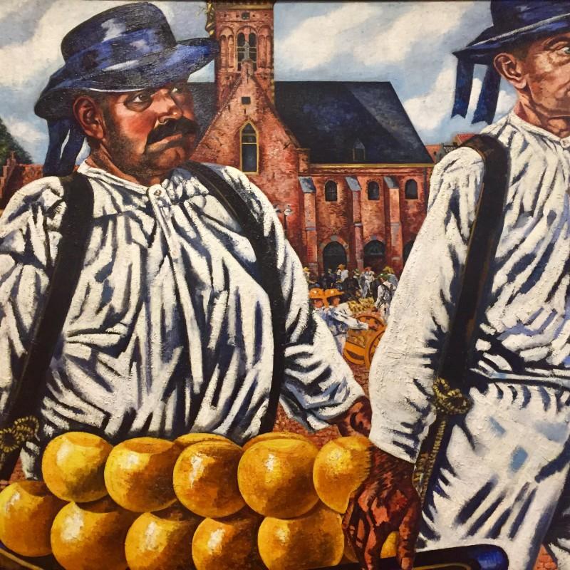 Charley Toorop, Cheese market Alkmaar 1932