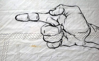 Pointing Hand |acrylic on sailcloth| 50x70 cm