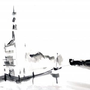 Accijnstoren Alkmaar Netherlands |Ink on paper | A3