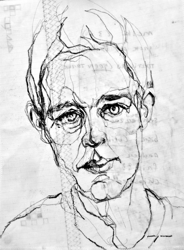 Portrait Pencil on Sail