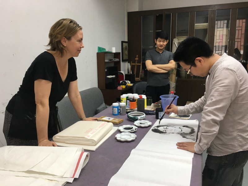Working at the Foshan Art Institute China 2018
