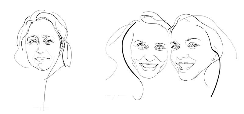 Digital drawings Portraits