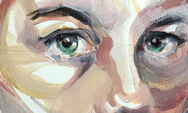 Detail selfportrait 2017