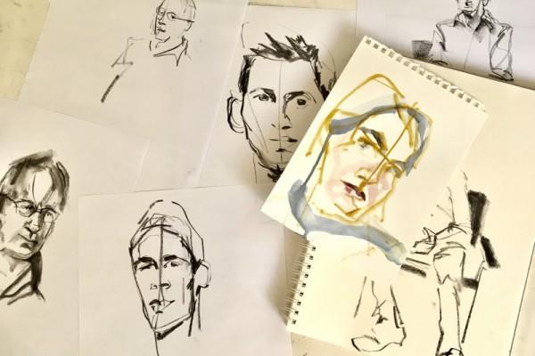 Koetzier van Hooff schetsen sketches