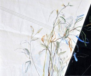 Rondje Kunst Statenkwartier Den Haag 2018 Flowers painted on sail cloth