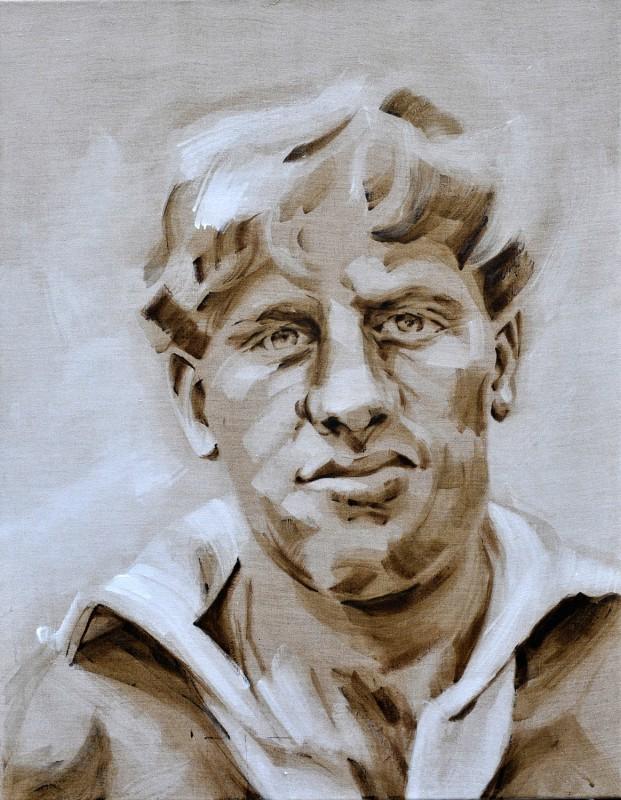 Harry Oort   football player AZ Alkmaar   acrylic on canvas linnen   70x80cm