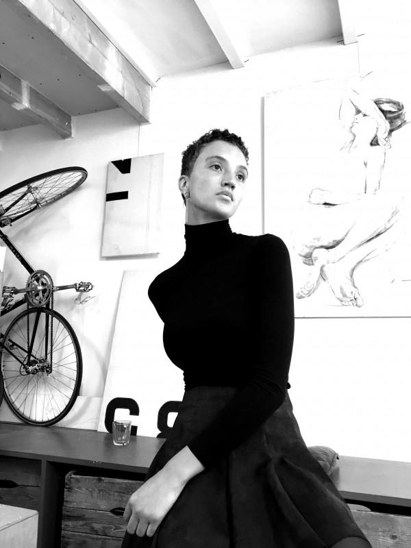 Model tekenen drawing Louisanne van Hooff