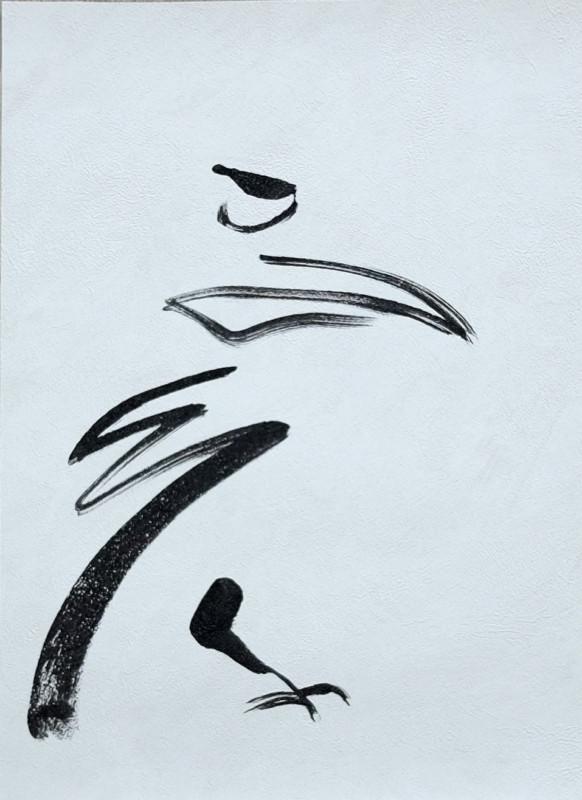 Wallpaper Birds Minimal | acrylic on wallpaper - 02