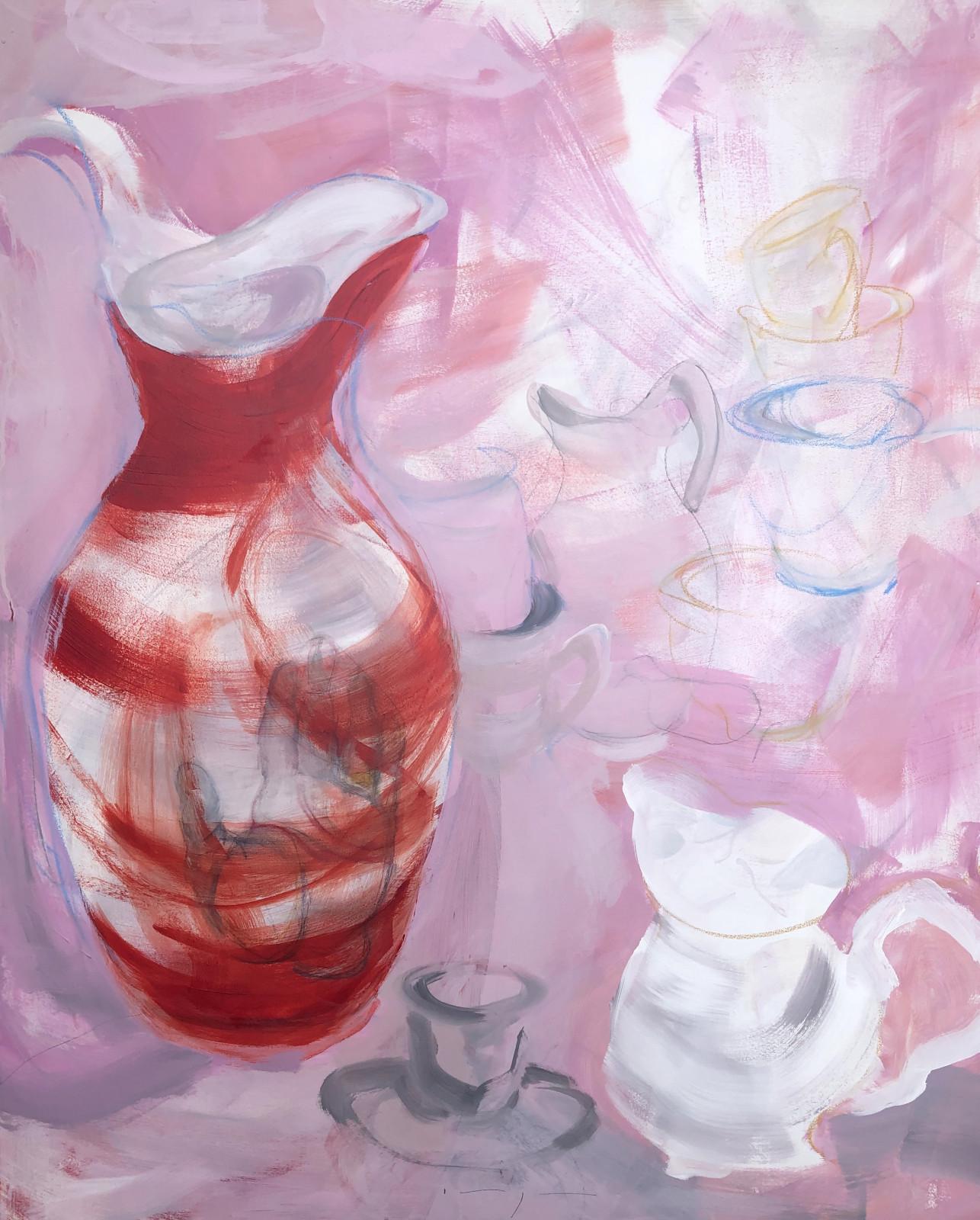 Artwork   Red Jug Still life