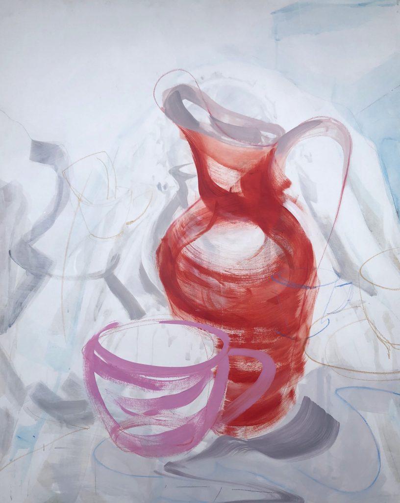 Artwork | Red Vase Pink Cup