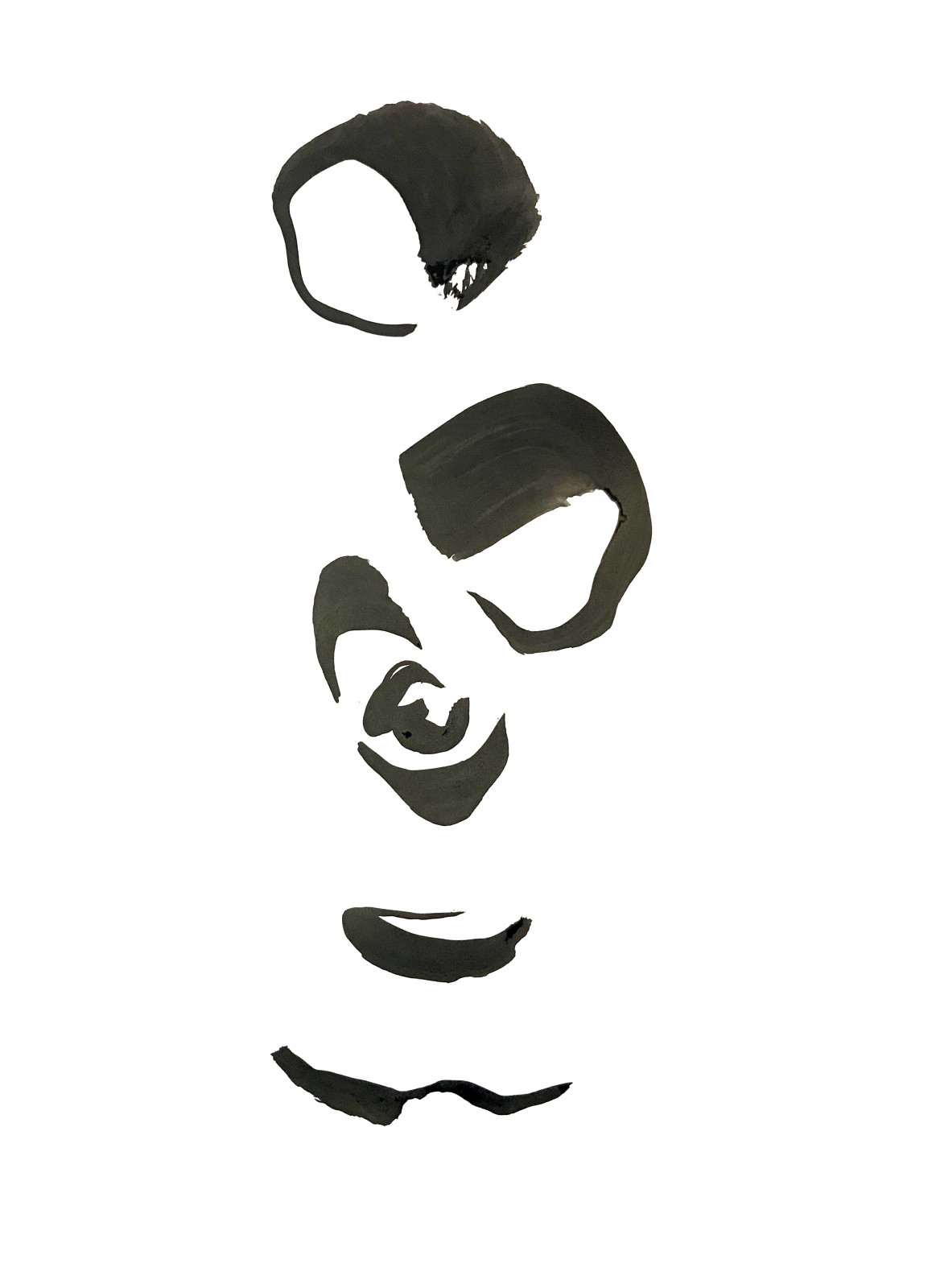 Panda Portrait in characters