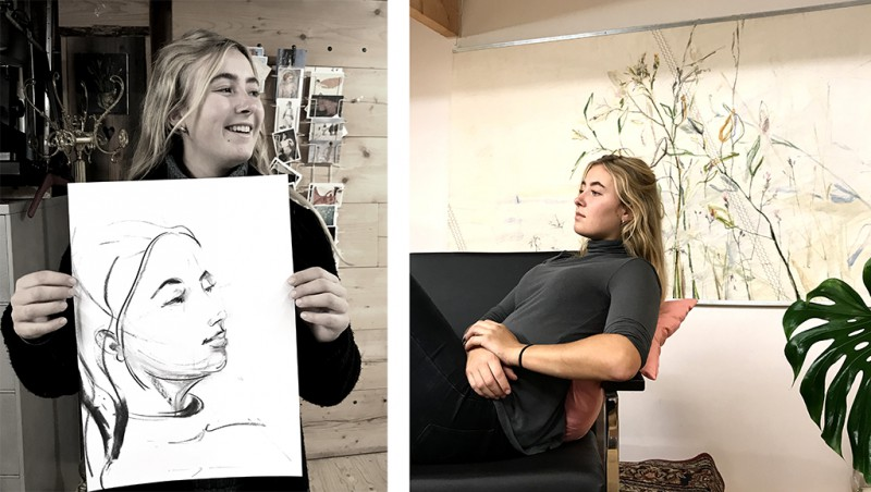 Model portrait drawing | portret modeltekenen | Lois Lindeboom
