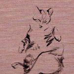 Koetzier van Hooff | Wallpaper Series | Cat on Taupe | Artwork