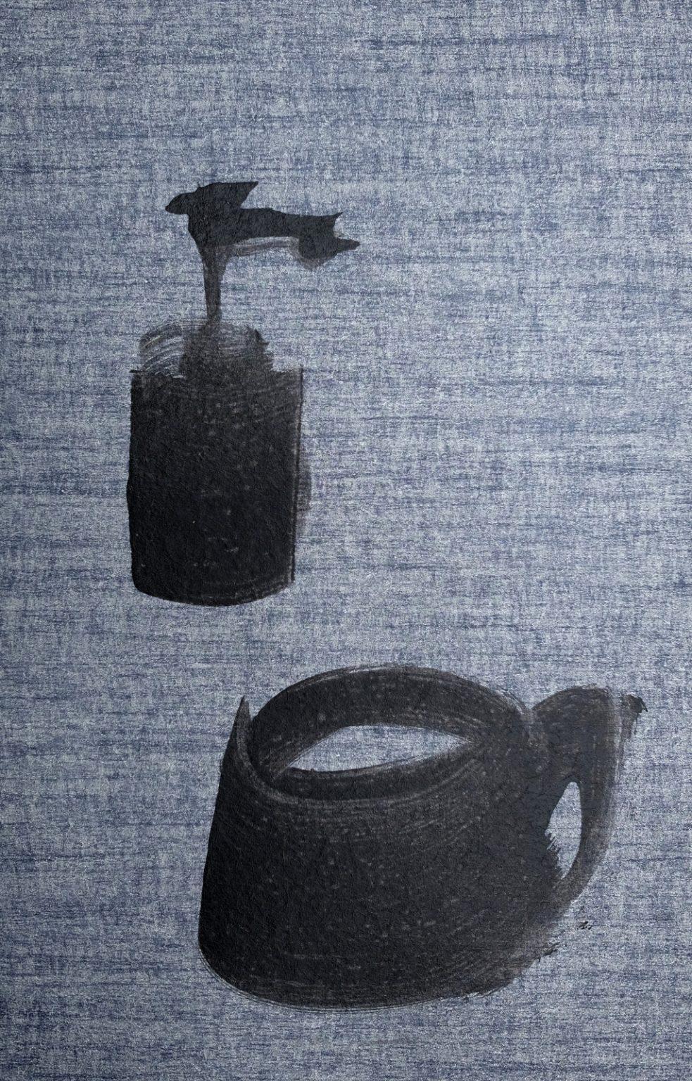 Koetzier van Hooff | Wallpaper Series | Still Life on Blue Grey