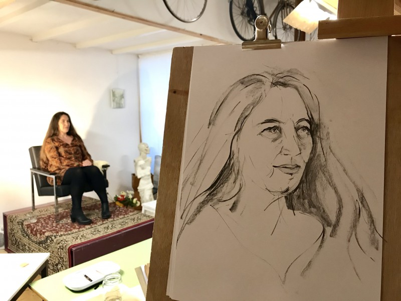 Model Drawing Portret Tekenen | Ghislaine | 2019
