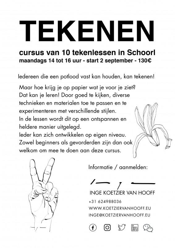 Tekenles Inge Koetzier van Hooff   Creativity is the new gold