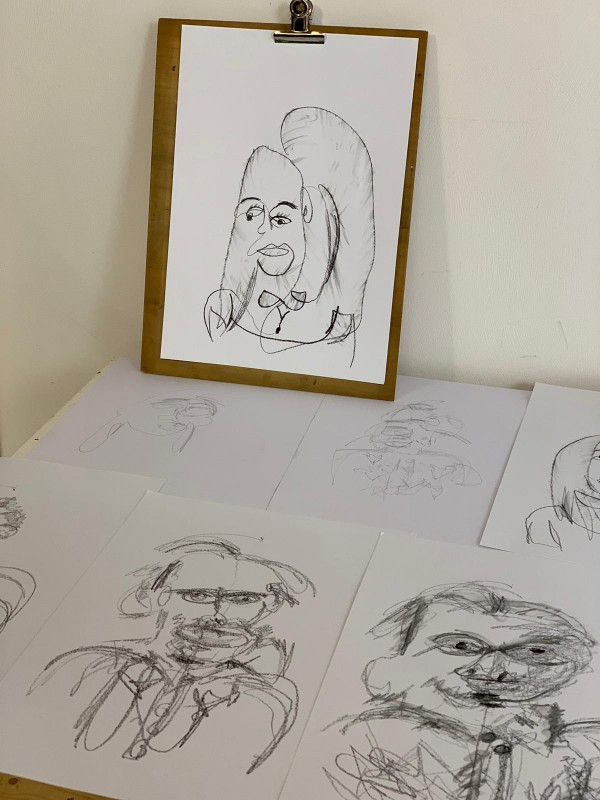 workshop for 2 | sketches | portrait drawing