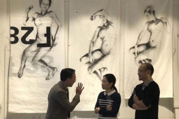 Paintings on sailcloth, exhibition Guangzhou, China