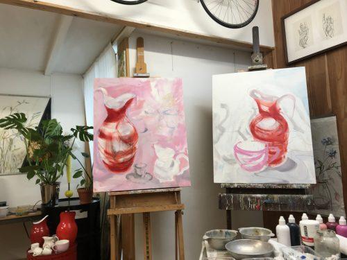 Artwork in Studio