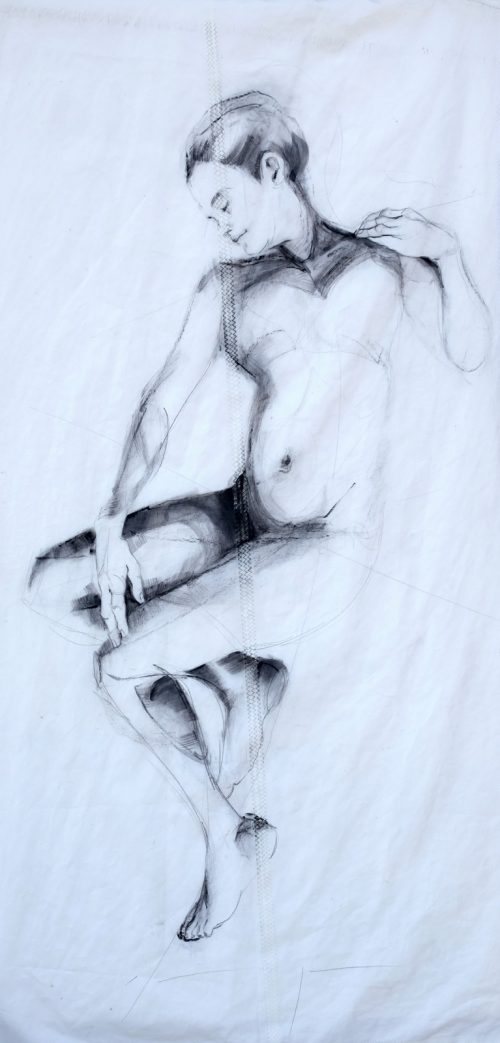 Reclining Woman 1 | Original Artwork | Koetzier van Hooff