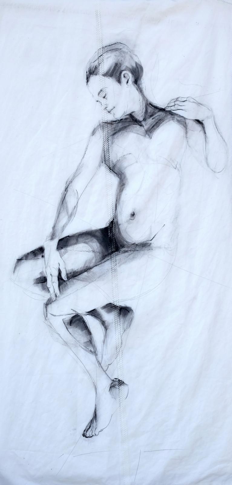 Reclining Woman 1 | Original Artwork | Koetzier van Hooff