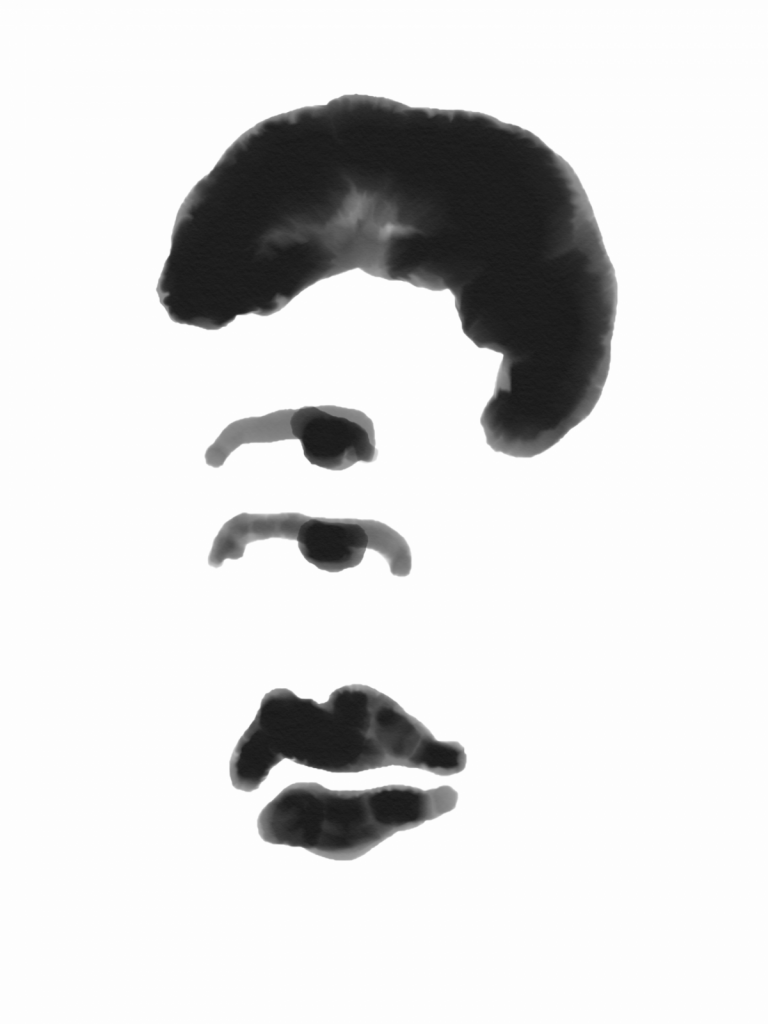 Portrait in characters