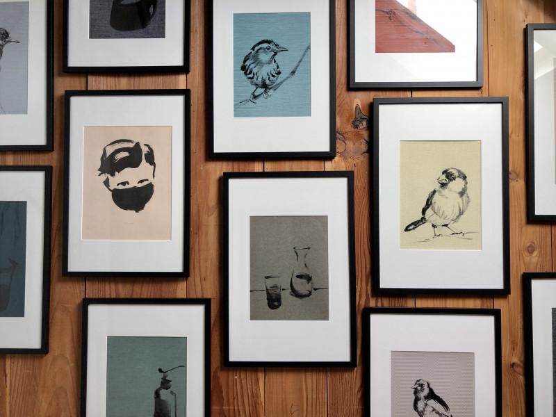 Wallpaper series on studio wall