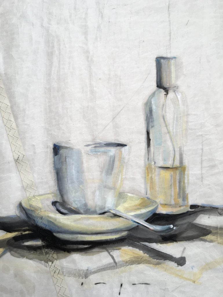 Bottle and Spoon Still Life on Sail