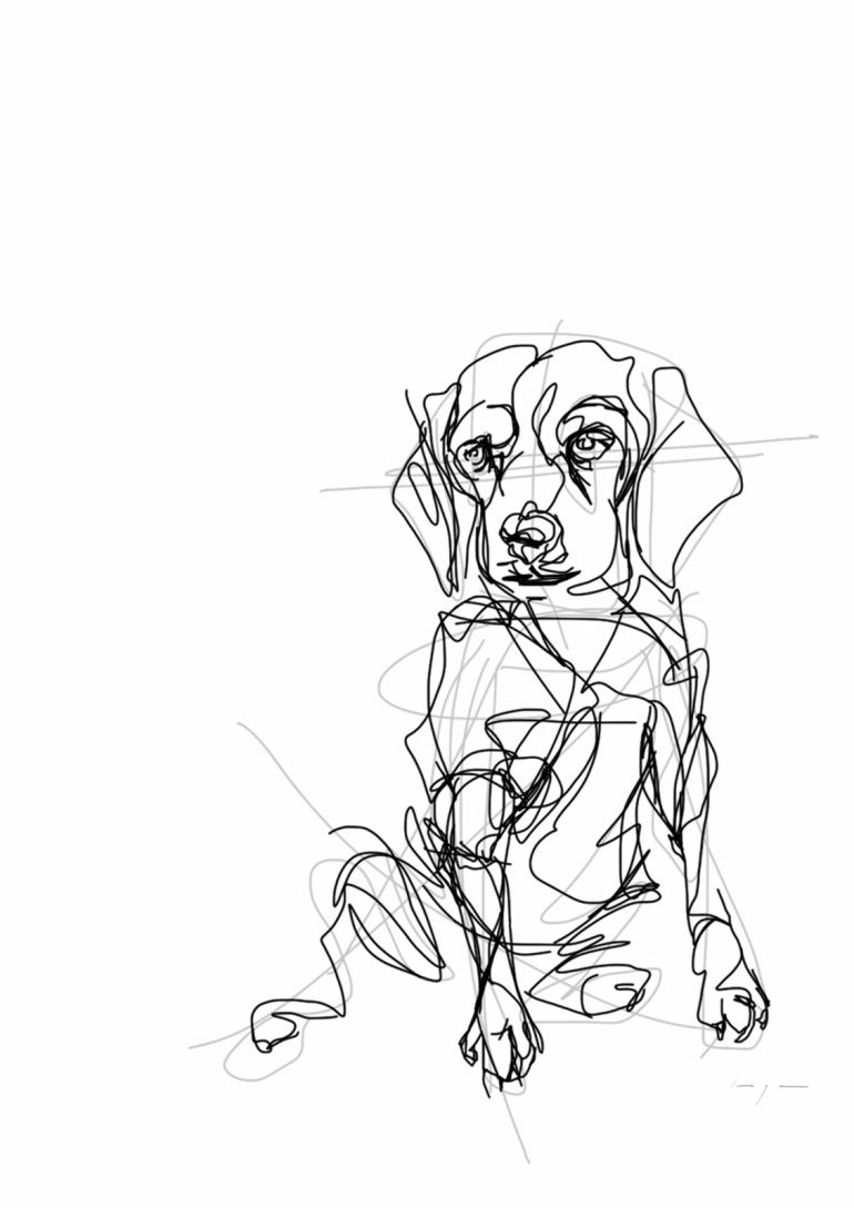 Dog   Digital Drawing