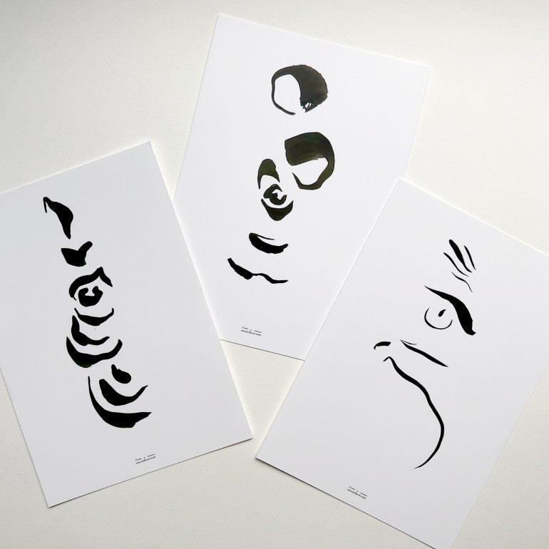 Animal Abstract Portraits | Gift Set
