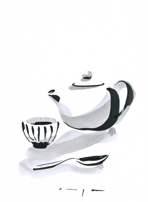 Chinese tea | Ink on Paper