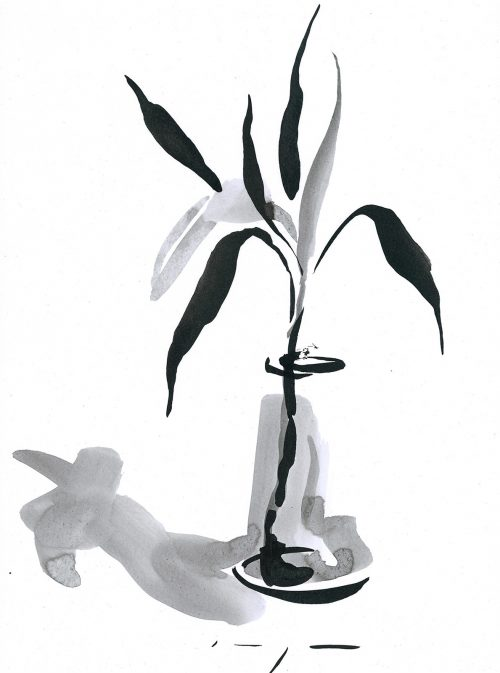 Lucky Bamboo 1 | Ink on Paper