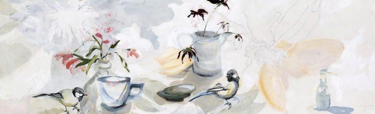 Birds and Flowers Still life | Original Artwork