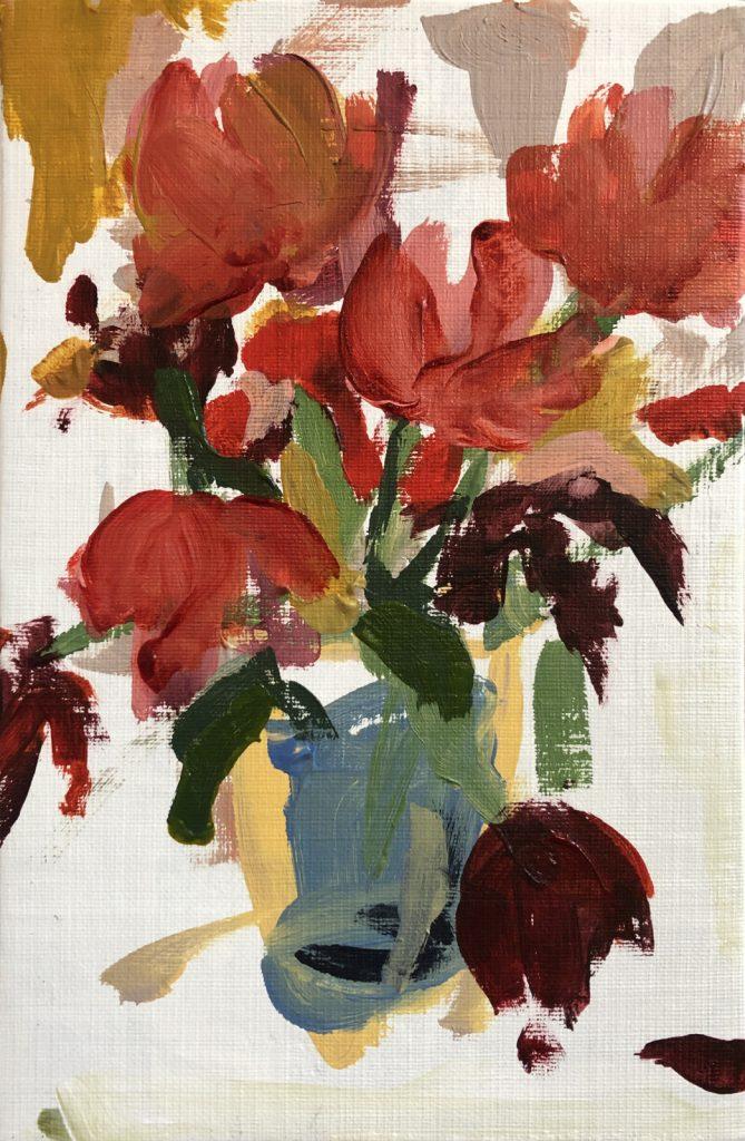 Red Flowers | Original Artwork