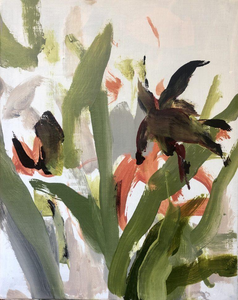 Greens and Flowers | original artwork