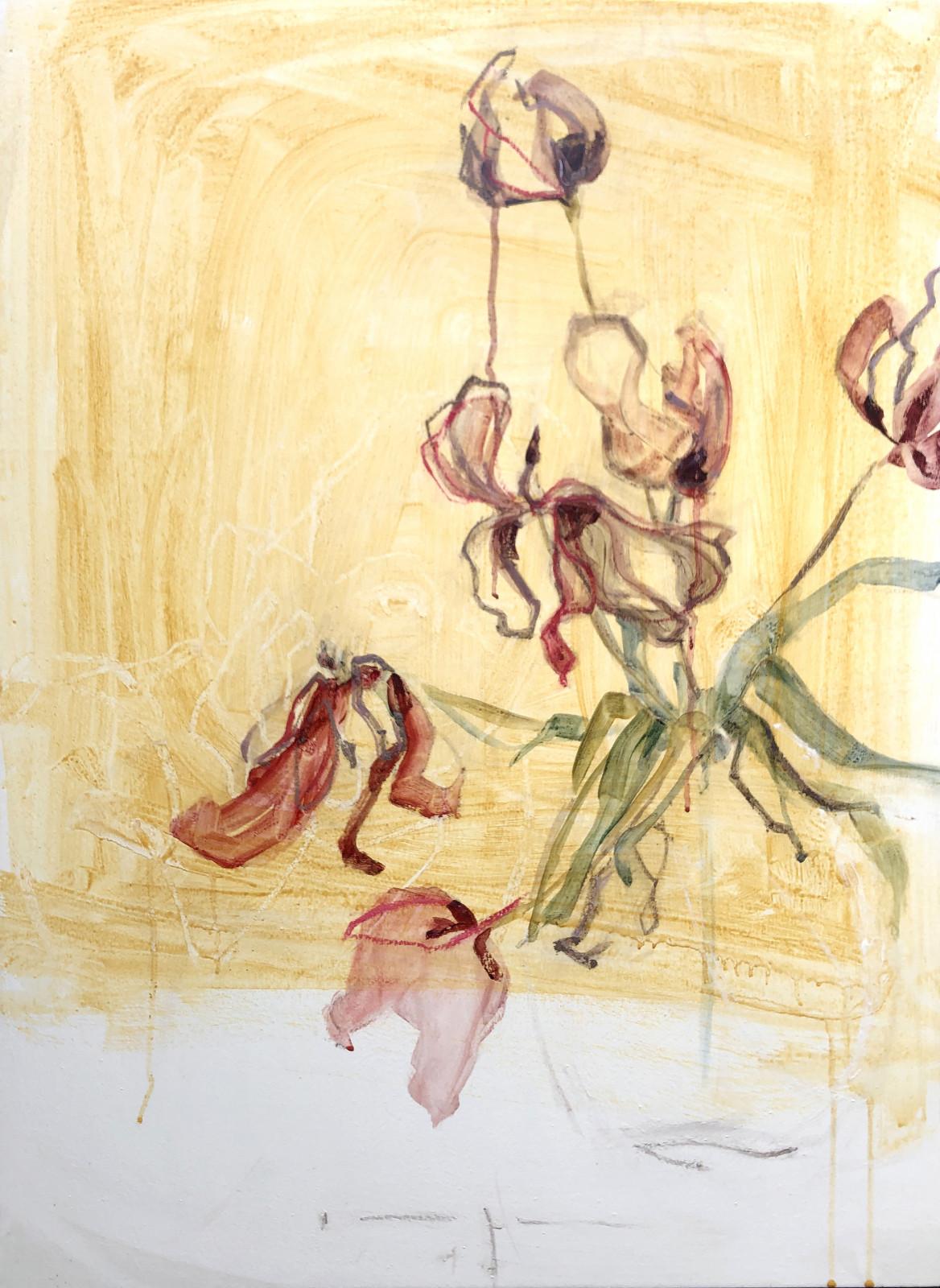 Tired Tulips   Original Artwork