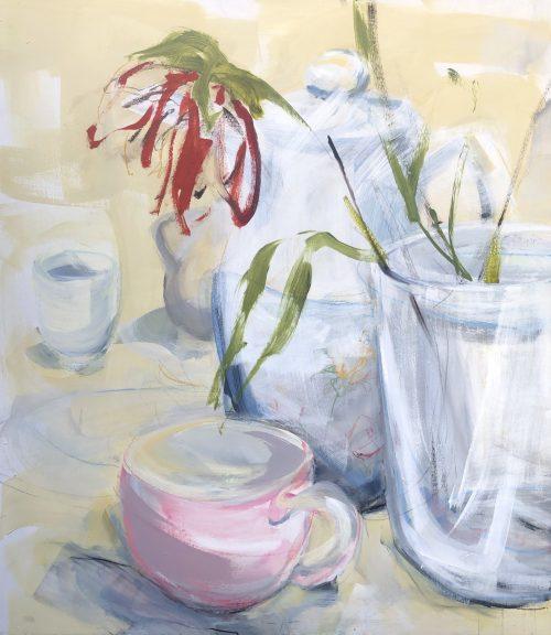 Single Flower Tea Still Life | Original Artwork