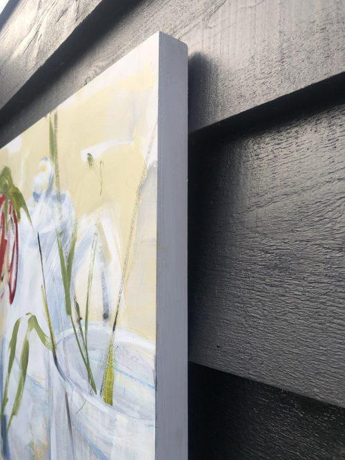 Single Flower Tea Still Life | Original Artwork | Detail