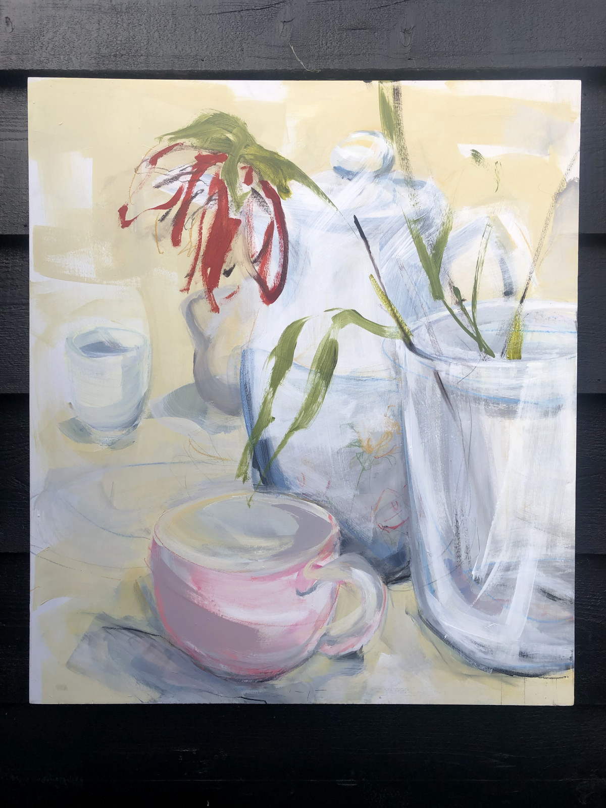 Single Flower Tea Still Life | Original Artwork | Wall