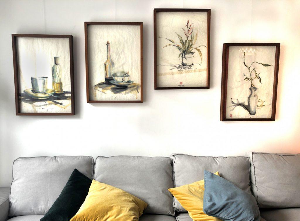 Kunst boven de bank | Couch Sofa Art